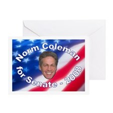 """Norm Coleman 2008"" Greeting Card"