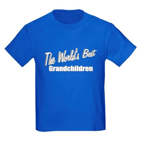 """The World's Best Grandchildren"" Kids Dark T-Shirt"