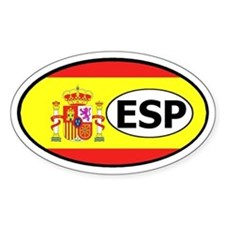 Spain Flag Oval Decal