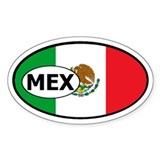 Flag of Mexico Oval  Aufkleber