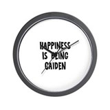 Happiness is being Caiden Wall Clock