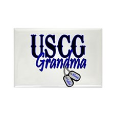 USCG Grandma Dog Tag Rectangle Magnet
