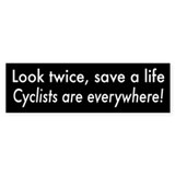 Cyclists are Everywhere Bumper Stickers
