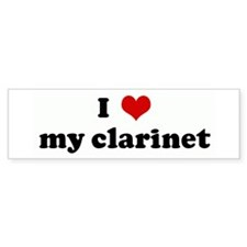 I Love my clarinet Bumper Bumper Sticker