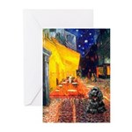 Cafe / Black Cocker Greeting Cards (Pk of 20)