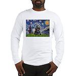 Starry Night / Black Cocke Long Sleeve T-Shirt