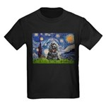 Starry Night / Black Cocke Kids Dark T-Shirt