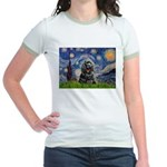 Starry Night / Black Cocke Jr. Ringer T-Shirt