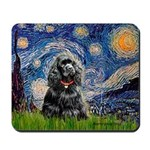Starry Night / Black Cocke Mousepad
