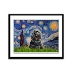 Starry Night / Black Cocke Framed Panel Print