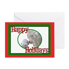 Angora Goat Happy Holidays-Mishka Greeting Card