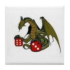 Dice and Dragons Tile Coaster