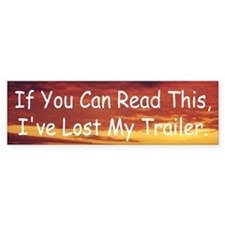 Trailer Bumper Bumper Sticker