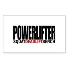 POWERLIFTER Rectangle Decal