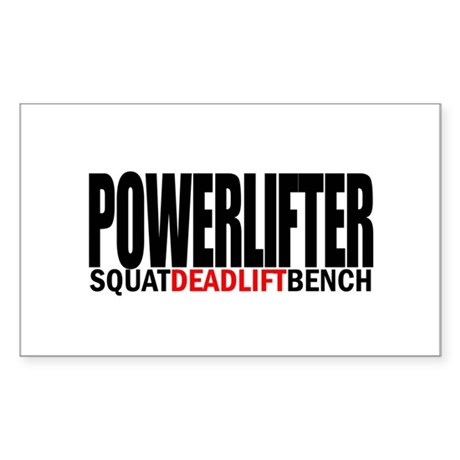 POWERLIFTER Rectangle Sticker