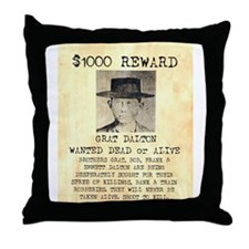 Wanted Grat Dalton Throw Pillow