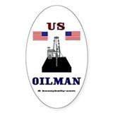 US Oilman Oval Decal