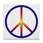 Peace Sign Tile Coaster
