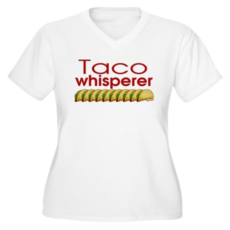 Taco Whisperer Women's Plus Size V-Neck T-Shirt