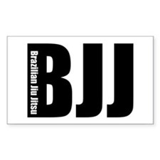 BJJ - Brazilian Jiu Jitsu Rectangle Decal