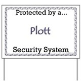 Plott Security  Yard Sign