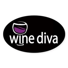 Wine Diva Oval Decal