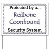 Coonhound Security  Yard Sign