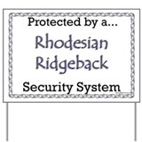 Ridgeback Security  Yard Sign