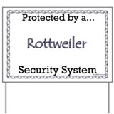 Rottweiler Security  Yard Sign