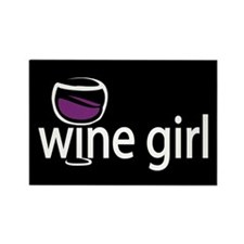 Wine Girl Rectangle Magnet (100 pack)