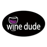 Wine Man Oval Decal