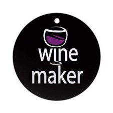 Wine Maker Ornament (Round)