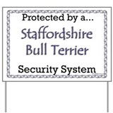 Staffy Security Yard Sign