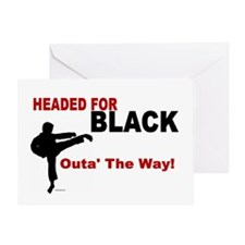 Outa' The Way! Greeting Card