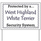 Westie Security Yard Sign
