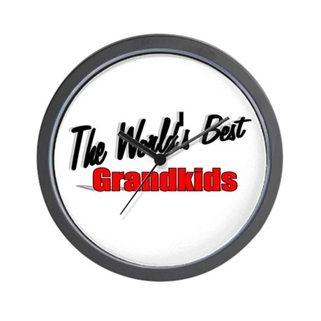 """The World's Best Grandkids"" Wall Clock"