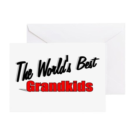 """The World's Best Grandkids"" Greeting Card"