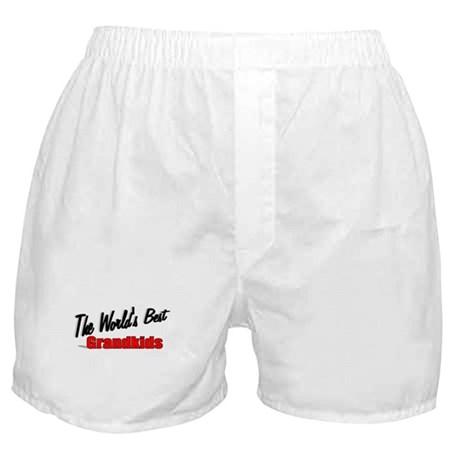 """The World's Best Grandkids"" Boxer Shorts"