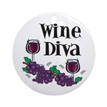 Winer Diva Ornament (Round)