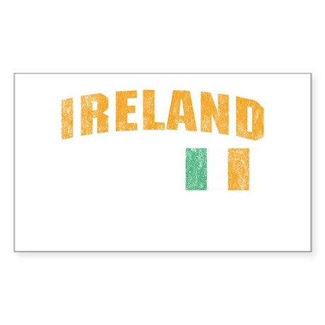 Vintage Ireland Soccer Rectangle Sticker