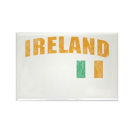 Vintage Ireland Soccer Rectangle Magnet