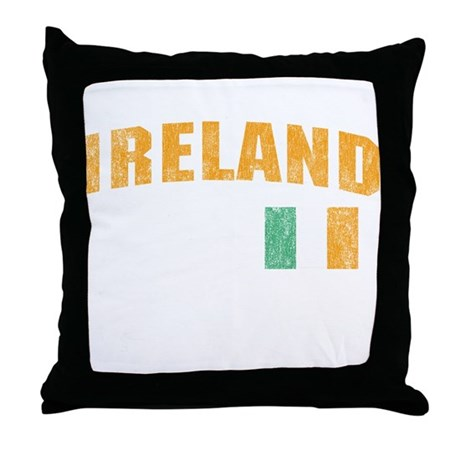 Vintage Ireland Soccer Throw Pillow