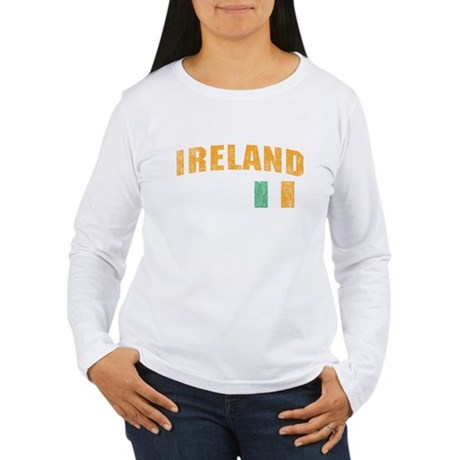 Vintage Ireland Soccer Womens Long Sleeve T-Shirt