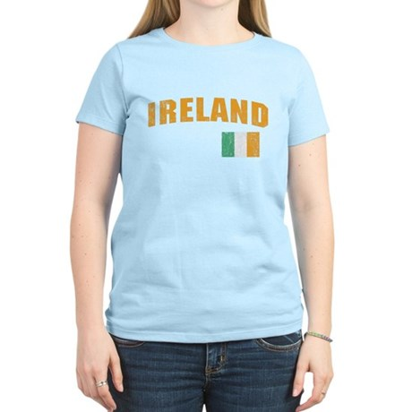 Vintage Ireland Soccer Womens Light T-Shirt