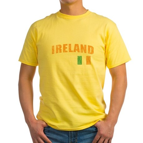 Vintage Ireland Soccer Yellow T-Shirt
