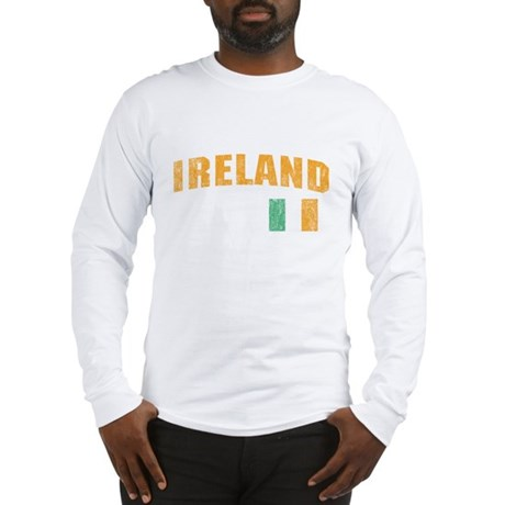 Vintage Ireland Soccer Long Sleeve T-Shirt