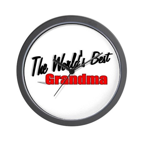 """The World's Best Grandma"" Wall Clock"
