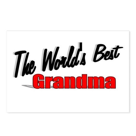 """The World's Best Grandma"" Postcards (Package of 8"