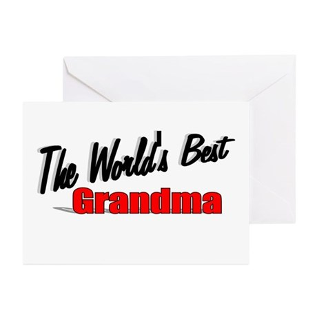"""The World's Best Grandma"" Greeting Cards (Pk of 2"