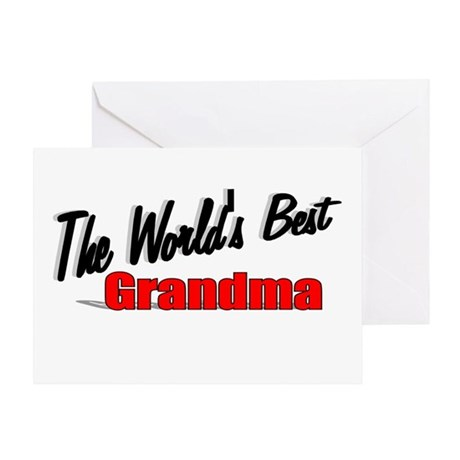 """The World's Best Grandma"" Greeting Card"
